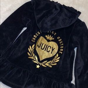 Juicy Couture velour zip up